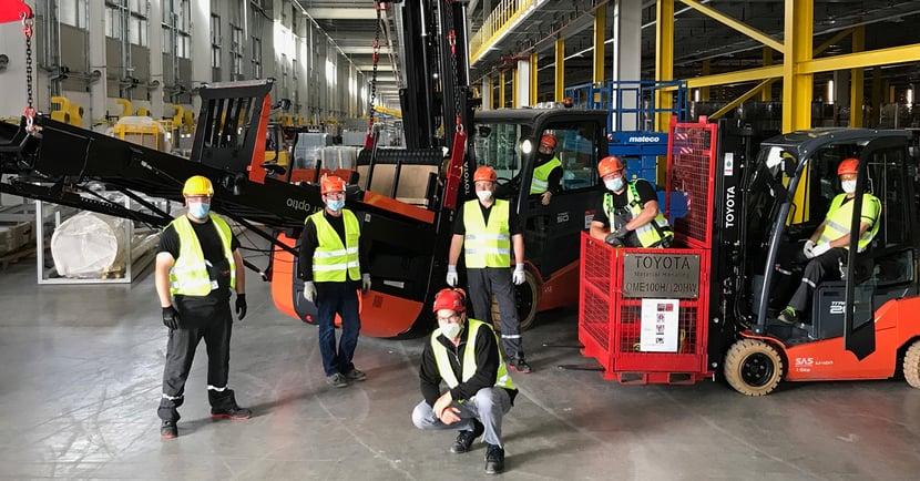 Aufbauteam von Toyota bei Amazon