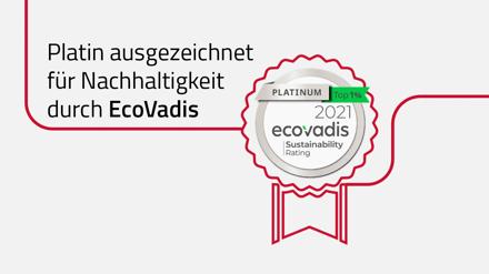 EcoVadis platinum sustainability 2021_de