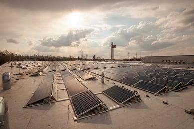 Solarzellen auf dem Dach in Isernhagen